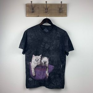 The Mountain Gray Tie Dye Fanny Pack Cats T-Shirt
